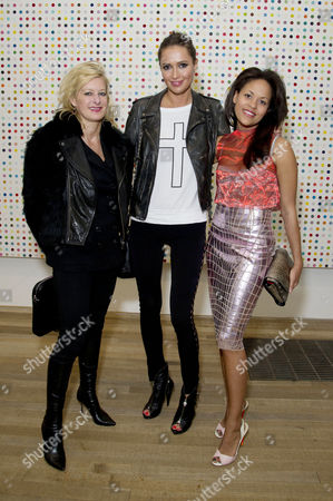 Private View For the First Major Damien Hirst Exhibition in the Uk at the Tate Modern Alison Jackson Sasha Volkova and Rachel Barrett