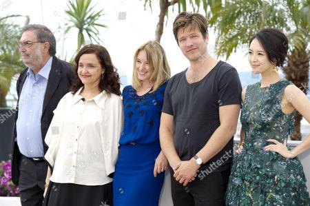 En Certain Regard Jury Photocall at the Palais Des Festivals During the 66th Cannes Film Festival Enrique Gonzalez Macho Ilda Santiago Ludivine Sagnier Thomas Vinterberg and Zhang Ziyi