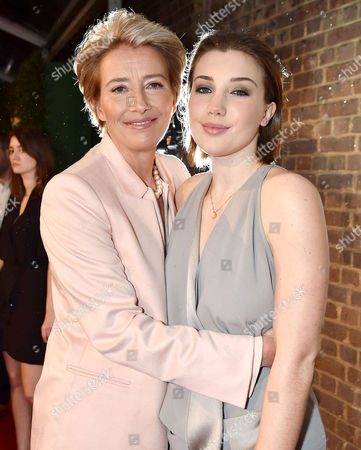 Evening Standard London Film Awards at Bbc Tv Centre Wood Lane Emma Thompson and Her Daughter Gaia Romilly Wise
