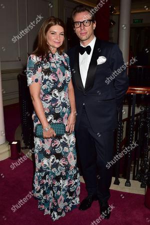 Evening Standard 60th Theatre Awards at the London Palladium Theatre Natalie Massenet and Erik Torstensson