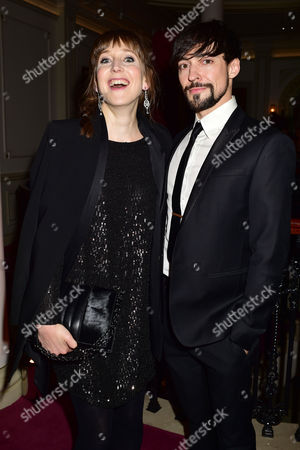 Evening Standard 60th Theatre Awards at the London Palladium Theatre Hattie Morahan with Her Husband Blake Ritson