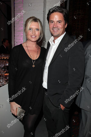 Exhibition Opening Party For 'Azerbaijan: Flying Carpet to Fairy Tale' at One Marylebone Marylebone Road Tina Hobley with Her Husband Oliver Wheeler