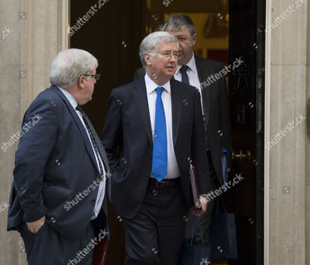Final Cabinet Meeting of This Government Patrick Mcloughlin Transport Secretary Michael Fallon Defence Secretary & Alistair Carmichael Scottish Secretary