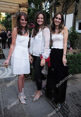 French Sole and Birchbox Summer Picnic at Number 16 Conservatory and Garden Sumner Place South Kensington West London Lady Violet Manners Lady Natasha Rufus Isaacs & Lady Alice Manners