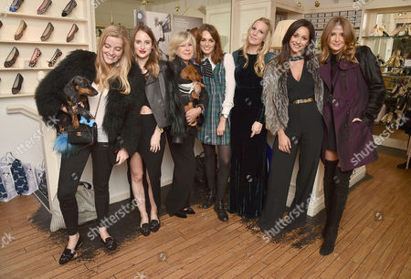 Rosie Fortescue and French Sole Host the Launch of the 'Little Dax' Slipper in Aid of Battersea Dogs & Cats Home at French Sole Sloane Street Charlotte Beecham Rosie Fortescue Jane Winkworth & Daphne Lady Violet Manners Alice Naylor-leyland Roxie Nafousi and Millie Mackintosh