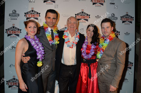 From Here to Eternity Press Night at the Shaftesbury Theatre and Freemasons Hall Darius Campbell Robert Lonsdale Siubhan Harrison Rebecca Thornhill with Sir Tim Rice