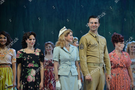 From Here to Eternity Press Night at the Shaftesbury Theatre and Freemasons Hall the Curtain Call Darius Campbell Warden Siubhan Harrison Lorene Robert Lonsdale Prewitt Ryan Sampson Maggio and Rebecca Thornhill Karen