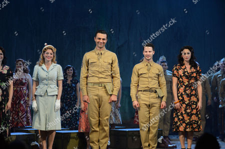 From Here to Eternity Press Night at the Shaftesbury Theatre and Freemasons Hall the Curtain Call Darius Campbell Warden Siubhan Harrison Lorene Robert Lonsdale Prewitt and Rebecca Thornhill Karen