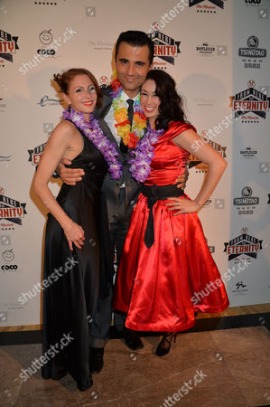 Stock Picture of From Here to Eternity Press Night at the Shaftesbury Theatre and Freemasons Hall Darius Campbel with Siubhan Harrison & Rebecca Thornhill