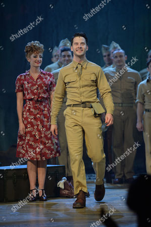 Stock Photo of From Here to Eternity Press Night at the Shaftesbury Theatre and Freemasons Hall the Curtain Call Darius Campbell Warden Siubhan Harrison Lorene Robert Lonsdale Prewitt Ryan Sampson Maggio and Rebecca Thornhill Karen