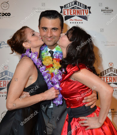 From Here to Eternity Press Night at the Shaftesbury Theatre and Freemasons Hall Darius Campbel with Siubhan Harrison & Rebecca Thornhill