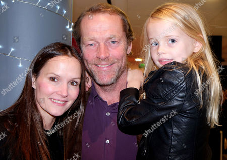 Gala Performance of 'Edward Scissorhands' at Sadler's Wells Iain Glen with Daughter Mary and Partner Charlotte Emmerson