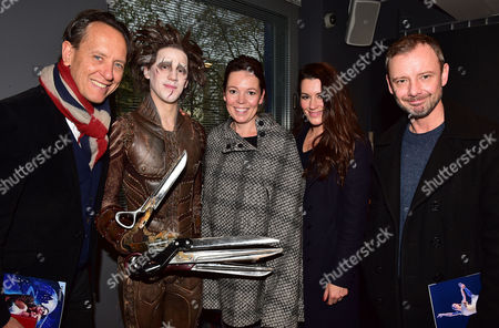 Gala Performance of 'Edward Scissorhands' at Sadler's Wells Richard E Grant Dominic North (edward Scissorhands) Olivia Colman Kate Magowan with Her Husband John Simm