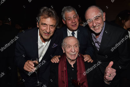 Stock Photo of 'Les Miserables' Musical 30th Anniversary at the Queen's Theatre Shaftesbury Avenue London and After Party at the Prince of Wales Theatre Coventry Street Alain Boublil Cameron Mackintosh Herbert Kretzmer with Claude-michel Schonberg