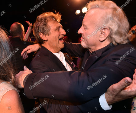 'Les Miserables' Musical 30th Anniversary at the Queen's Theatre Shaftesbury Avenue London and After Party at the Prince of Wales Theatre Coventry Street Alain Boublil & Colm Wilkinson