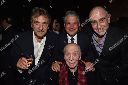 'Les Miserables' Musical 30th Anniversary at the Queen's Theatre Shaftesbury Avenue London and After Party at the Prince of Wales Theatre Coventry Street Alain Boublil Cameron Mackintosh Herbert Kretzmer with Claude-michel Schonberg