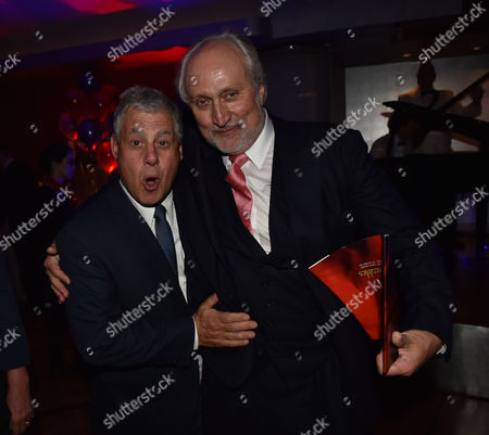 'Les Miserables' Musical 30th Anniversary at the Queen's Theatre Shaftesbury Avenue London and After Party at the Prince of Wales Theatre Coventry Street Cameron Mackintosh with Nick Allott