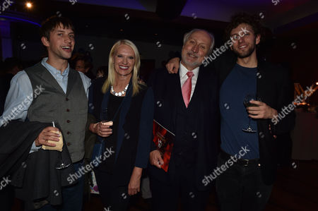 'Les Miserables' Musical 30th Anniversary at the Queen's Theatre Shaftesbury Avenue London and After Party at the Prince of Wales Theatre Coventry Street Nick Allott with His Ex- Wife Anneka Rice and Their Sons Thomas and Josh