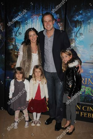 Gala Screening and Tea Party For Disney's 'The Princess and the Frog' at the Mayfair Hotel Mayfair Peter Jones (dragons Den) with His Partner Tara Capp and Their 3 Children
