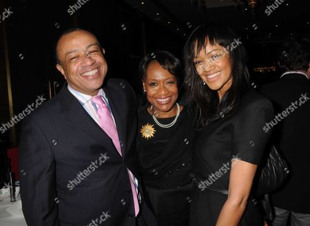 Gala Screening and Tea Party For Disney's 'The Princess and the Frog' at the Mayfair Hotel Mayfair Paul Boateng with His Wife and Their Daughter
