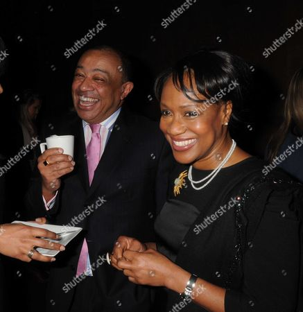 Gala Screening and Tea Party For Disney's 'The Princess and the Frog' at the Mayfair Hotel Mayfair Paul Boateng with His Wife