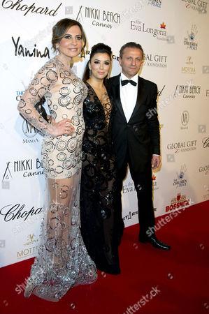 Global Gift Gala at the Carlton Hotel During the 66th Cannes Film Festival Ella Krasner and Eva Longoria