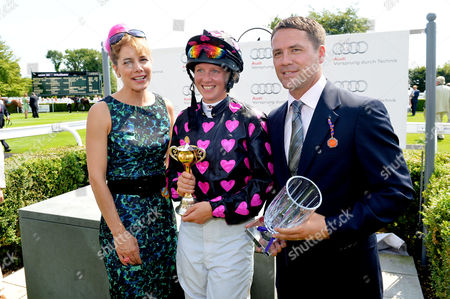 Glorious Goodwood Horse Racing Ladies Day at Goodwood West Sussex Darcey Bussell Philippa Holland and Michael Owen