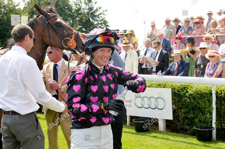 Glorious Goodwood Horse Racing Ladies Day at Goodwood West Sussex Winner Philippa Holland