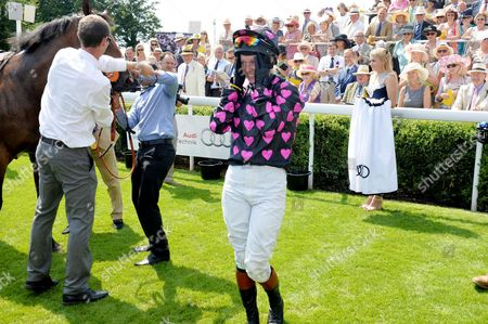 Glorious Goodwood Horse Racing Ladies Day at Goodwood West Sussex the Magnolia Stakes Winner Philippa Holland