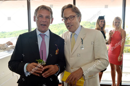 Glorious Goodwood Horse Racing Ladies Day at Goodwood West Sussex Charles Gordon-watson and Charles Gordon-lennox Earl of March and Kinrara