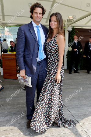 Glorious Goodwood Horse Racing Ladies Day at Goodwood West Sussex Lady Natasha Rufus-isaacs with Her Husband Rupert Finch