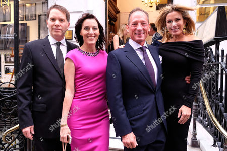 Gregory Peck Style Archive of an Icon Exhibition Private View at Huntsman Savile Row Cecilia Peck and Her Husband Daniel Voll and Anthony Peck Wit His Wife Paula