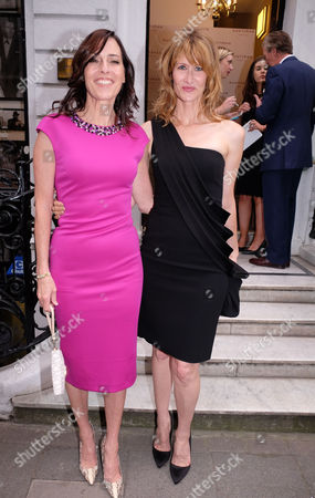 Gregory Peck Style Archive of an Icon Exhibition Private View at Huntsman Savile Row Cecilia Peck and Laura Dern