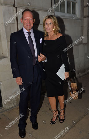 Gregory Peck Style Archive of an Icon Exhibition Private View at Huntsman Savile Row Anthony Peck with His Wife Paula
