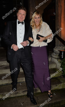 Hans and Julia Rausing Wedding Party at 1 Mayfair North Audley Street London Rod Barker with His Partner Tania Bryer
