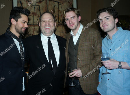 'The Artist' Vip Screening Hosted by Harvey Weinstein at the Charlotte Street Hotel Dominic Cooper Harvey Weinstein Dan Stephens and Tom Burke