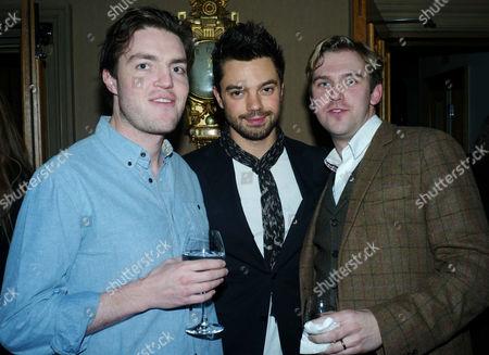 'The Artist' Vip Screening at the Charlotte Street Hotel Tom Burke Dan Stephens and Dominic Cooper