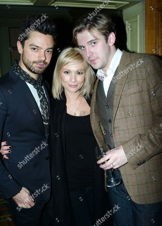 Stock Picture of 'The Artist' Vip Screening at the Charlotte Street Hotel Dominic Cooper Myanna Buring and Dan Stephens