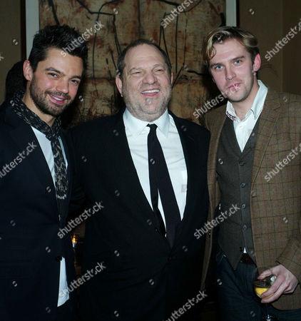 'The Artist' Vip Screening at the Charlotte Street Hotel Dominic Cooper Harvey Weinstein and Dan Stephens