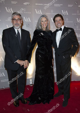 Stock Picture of Hollywood Costume Dinner at the V&a John Landis with His Wife Deborah Nadoolman with Frederic De Narp Ceo of Harry Winston