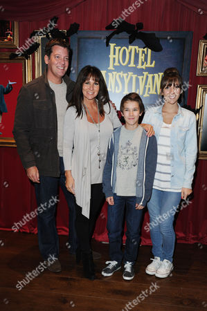Hotel Transylvania Screening at the Soho Hotel Linda Lusardi with Her Husband Samuel Kane and Their Children Lucy and Jack