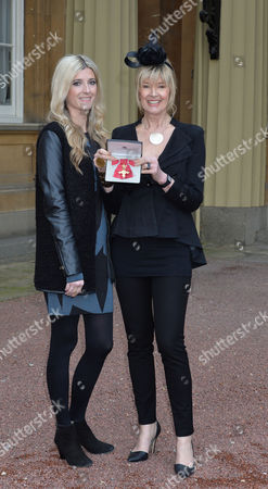Investiture at Buckingham Palace Julia Somerville with Her Daughter Rachael Gowdridge