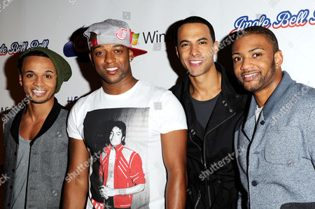 Jingle Bell Ball at the 02 Arena - Day Two Jls - Aston Merrygold Ortise Williams Marvin Humes and Jonathan 'Jb' Gill