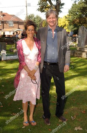 The Wedding at St James Church Cooling Kent of Jools Holland & Christabel Mcewan Henry John Fitzroy Somerset ' Bunter' Marquess of Worcester with His Wife Tracy Ward
