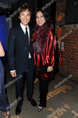 Stock Photo of Joseph Anton Memoir Book Launch Party at the Collection Brompton Road Andy and Patti Wong