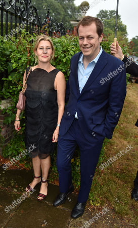 Lady Annabel Goldsmith Summer Party at Her Home Richmond Tom Parker Bowles with His Wife Sara Buys