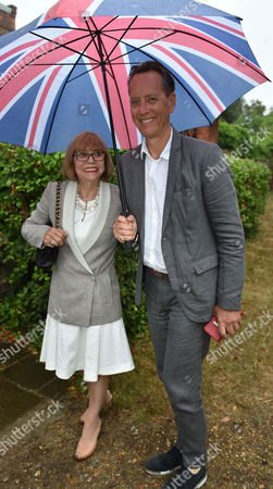 Lady Annabel Goldsmith Summer Party at Her Home Richmond Richard E Grant with His Wife Joan Washington
