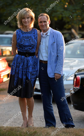 Lady Annabel Goldsmiths Summer Garden Party Aa Gill and Nicola Formby