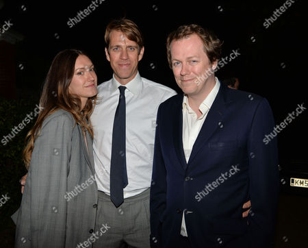 Lady Annabel Goldsmiths Summer Garden Party Ben Elliott and His Wife Mary–clare with Tom Parker Bowles
