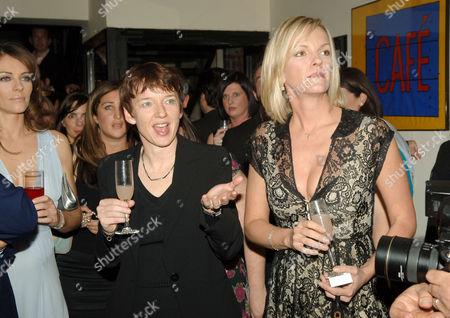Elisabeth Murdoch Elziabeth Hurley and Dawn Airey